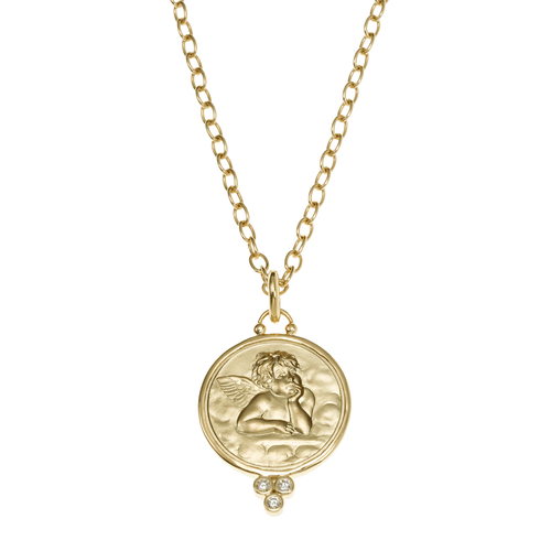 Temple St. Clair 18k Gold Angel Pendant