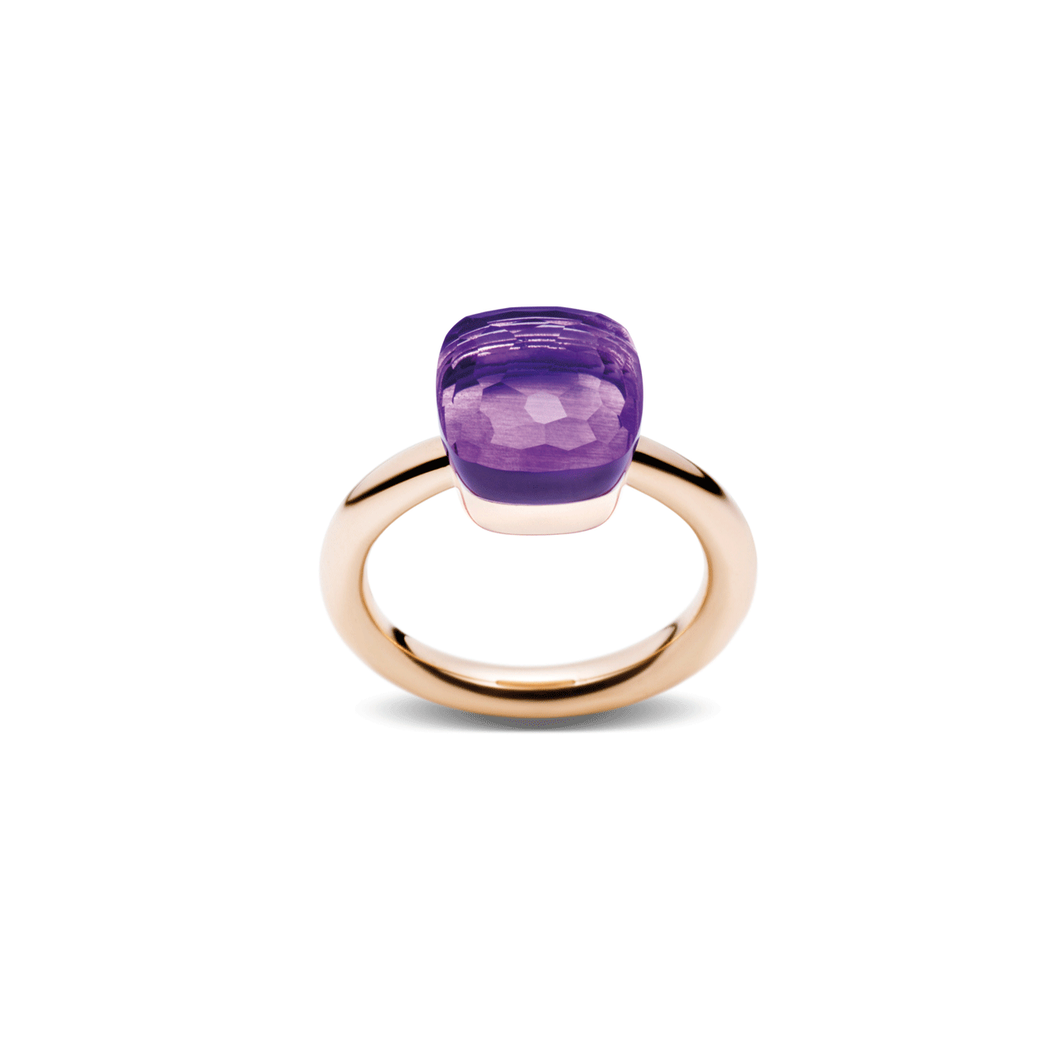 Pomellato Nudo 18k Gold and Amethyst Ring