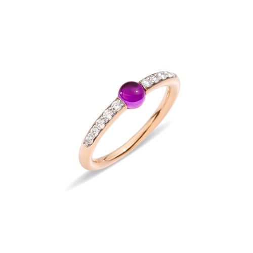 Pomellato 18k Gold and Amethyst M'ama Non M'ama Ring