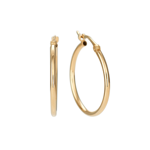 Classic 14k Yellow Gold 20mm Hoops