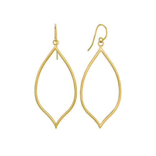 Classic 14k Yellow Gold Freeform Earrings