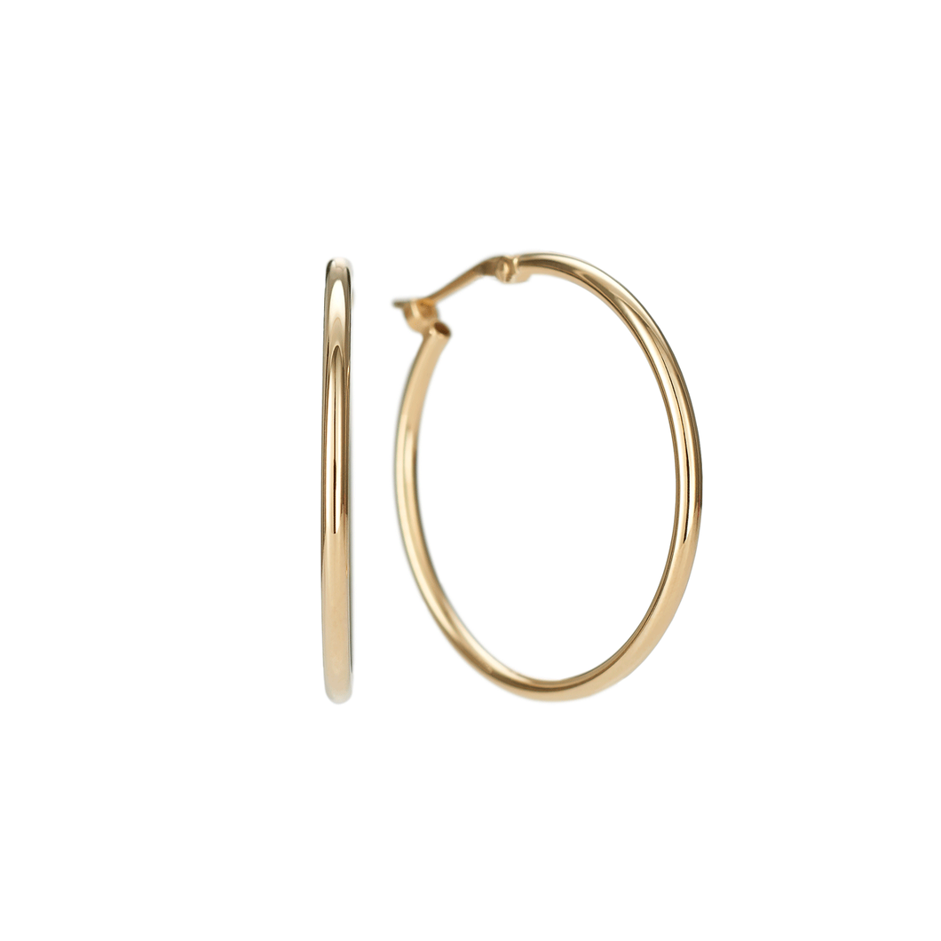Classic 14k Yellow Gold 25mm Hoops