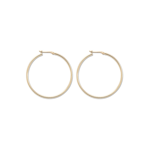 Classic 14k Yellow Gold 30mm Hoops