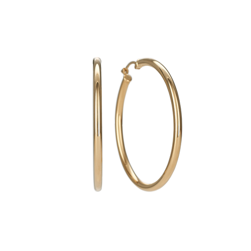 Classic 14k Yellow Gold 40mm Hoops