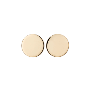 Classic 14k Yellow Gold 11mm Disk Stud Earrings