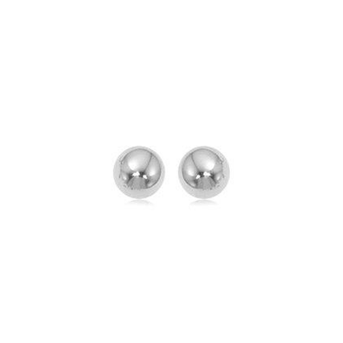 Classic 14k White Gold 6mm Ball Stud Earrings