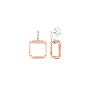 Roberto Coin 18k Rose and White Gold Classica Parisienne Earrings