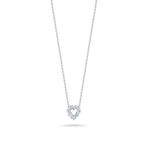 Roberto Coin 18k Gold and Diamond Heart Pendant