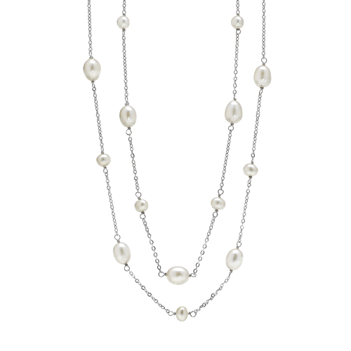 Freshwater Pearl 36 Inch Station Necklace