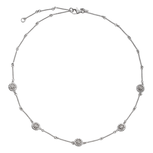 Artisan Sterling Silver and Diamond Twist Link Necklace