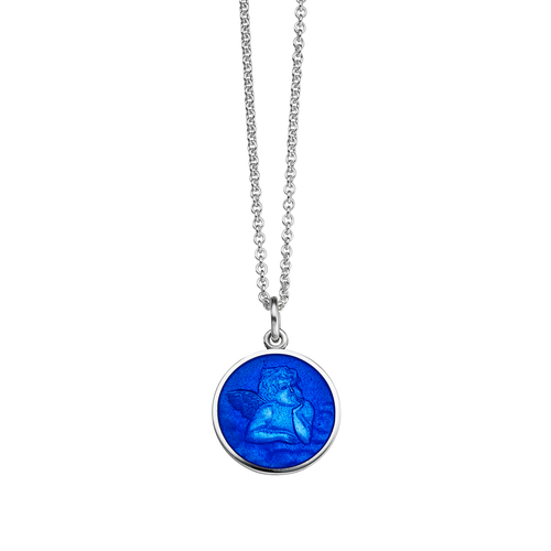 Guardian Angel Small Royal Blue Pendant