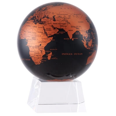 Black and Copper MOVA Rotation Globe