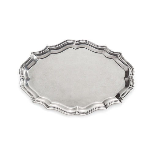 Peltro Scalloped Large Oval Tray