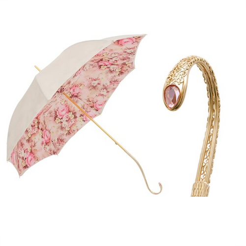 Pink Umbrella with Flowers