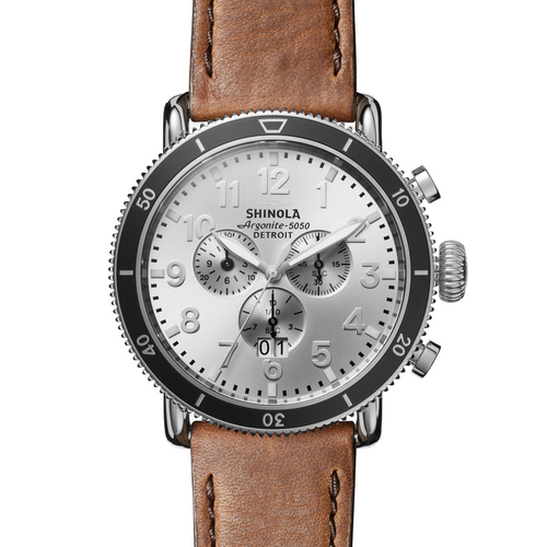 Shinola The Runwell Sport Chronograph Silver