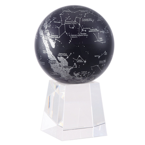 "Constellations MOVA Rotation Globe 4.5"" With Crystal Base Tall"