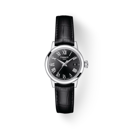 Tissot Classic Dream Lady with Black Dial and Leather Strap
