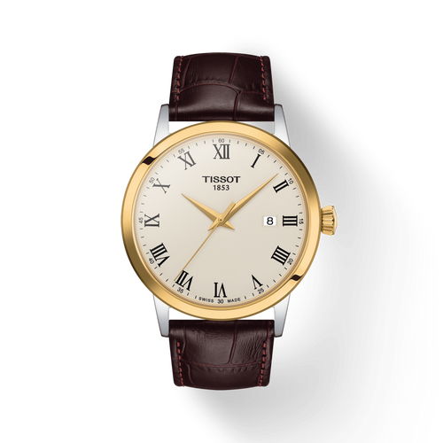 Tissot Classic Dream with Ivory Dial and Brown Leather Strap