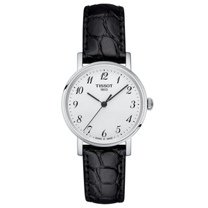 Ladies Black Leather Watch