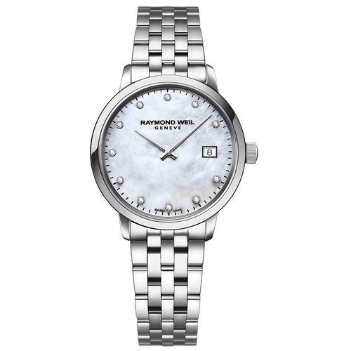 Raymond Weil Toccata Ladies White Mother-of-Pearl Diamond Quartz Watch