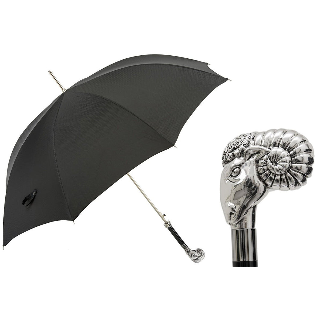 Luxury Umbrella with Silver Ram Handle