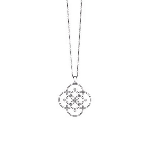 Arabesque Open Floral Pendant