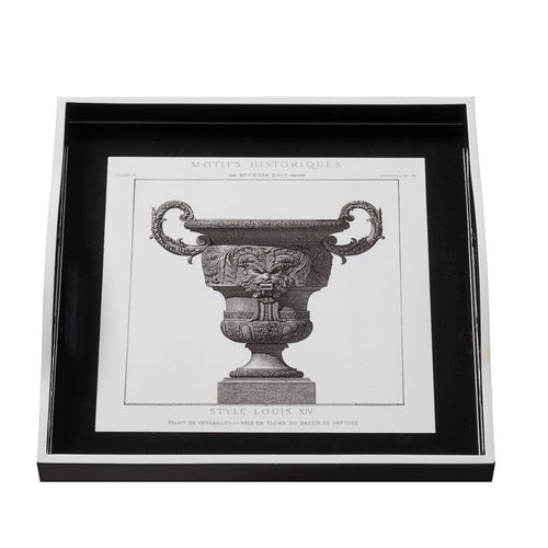 Urn On Black Small Tray