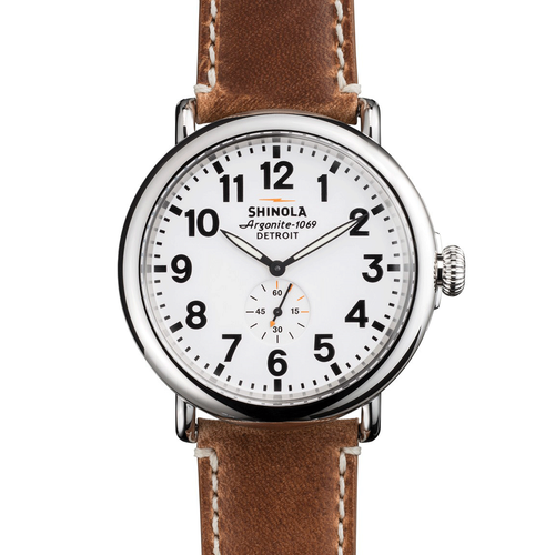 Shinola The Runwell 47mm Brown Strap 10000010-SDT-000009863