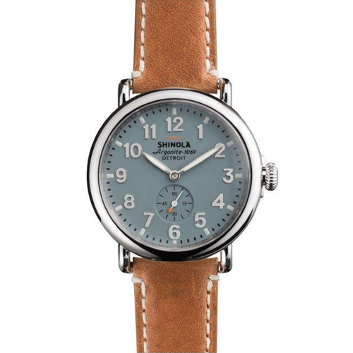 Shinola The Runwell 41mm Brown Strap 10000024-sdt-000009874