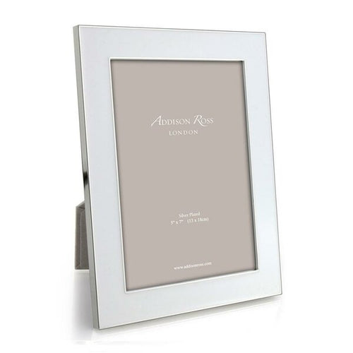White Wide Enamel Frame
