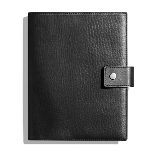 Shinola Large Journal Cover with Tab Black