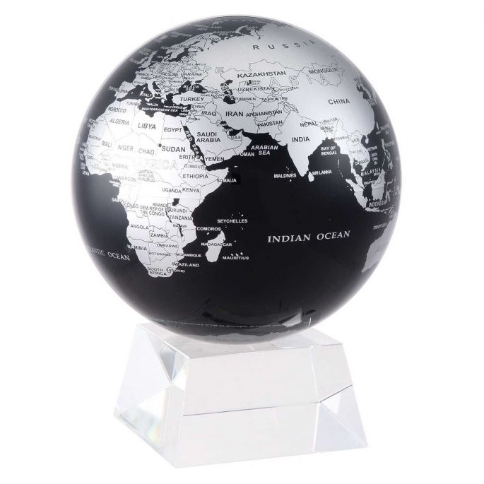 Black and Silver MOVA Rotation Globe