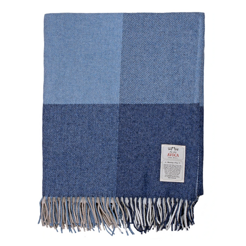 Capri Denim Cashmere Blend Throw
