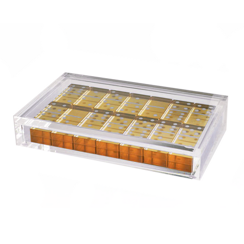 Tizo Lucite Gold Domino Set