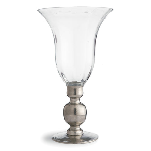 Giovanna Vase with Pewter Stem