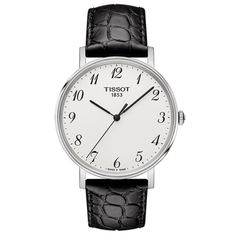 Tissot Men's Black Leather Watch