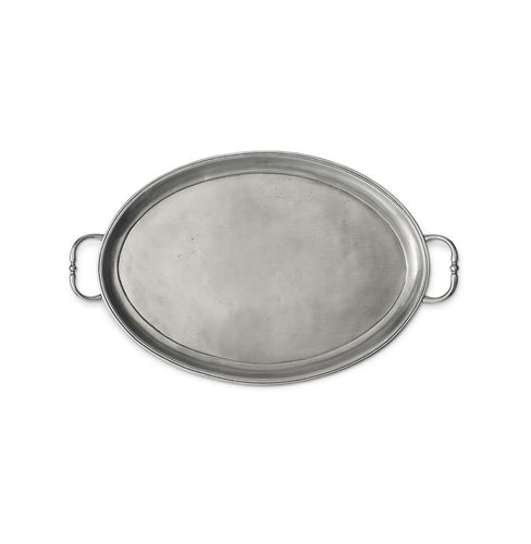 Match Medium Oval Tray with Handles