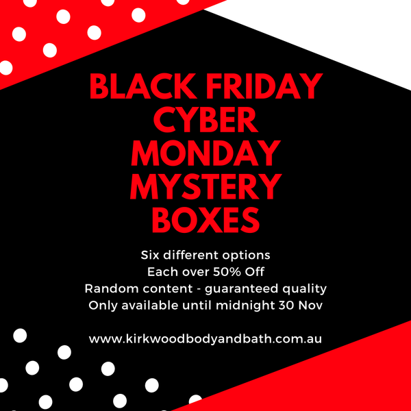 Black Friday Cyber Monday Mystery Boxes.