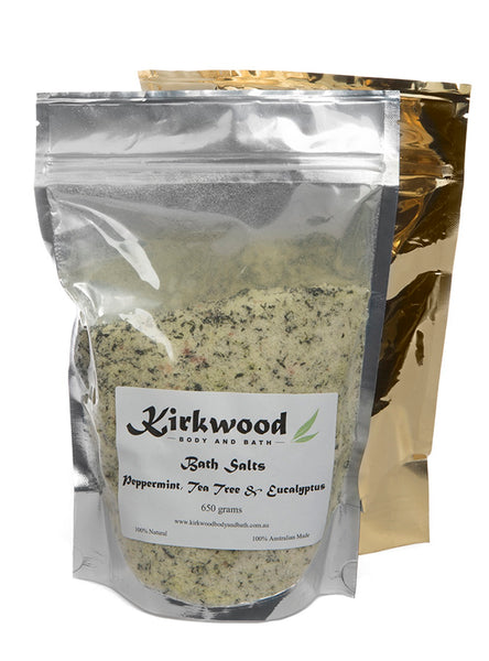 Epsom Bath Salts - Peppermint Tea Tree & Eucalypt