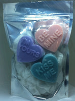 Valentines Day Candy Hearts - Pack of 3