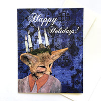 Unique Illustrated Animal Holiday Cards - Lady Fox Holiday Card by Pergamo Paper Goods