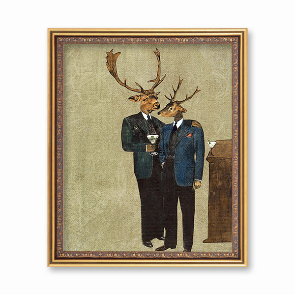 Bar Deer Art Print