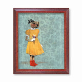 Otter in Yellow Dress Art Print