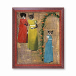 Animal Art and Gifts for Vintage Lovers - Sassy Cats Art Print by Pergamo Paper Goods