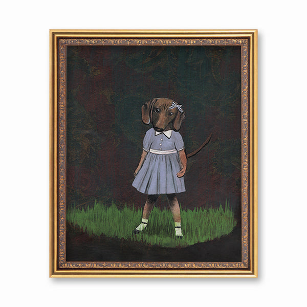 Dachshund Girl Art Print