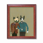Gay Art for Dog Lovers - Chihuahua & Rat Terrier Art Print by Pergamo Paper Goods