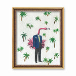 Flamingo Man Art Print