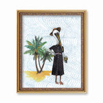 Original Illustrations and Florida Decor - Retro Pelican Art Print by Pergamo Paper Goods