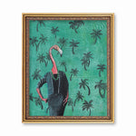 Lady Flamingo Art Print