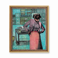 Art for Dog Lovers - Sassy Dressed Up Dog Art Print - Vintage Dog Art by Pergamo Paper Goods